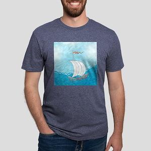 Pretty Sailboat Mens Tri-blend T-Shirt