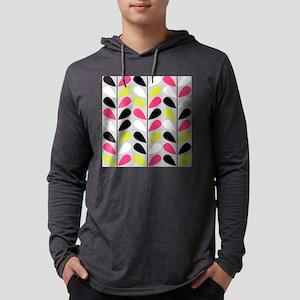 Retro Pattern Mens Hooded Shirt