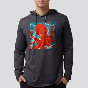 Octopus Painting Mens Hooded Shirt