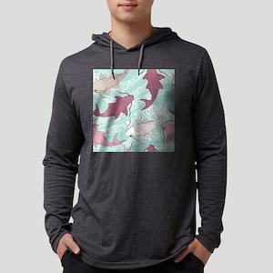 Koi Fish Mens Hooded Shirt