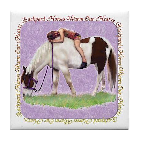 Backyard Horse Tile Coaster