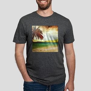 Tropical Beach Mens Tri-blend T-Shirt