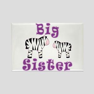 Big Sister Zebra Rectangle Magnet