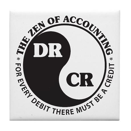 Zen of Accounting Tile Coaster