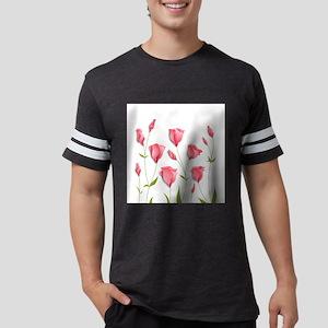Pretty Flowers Mens Football Shirt