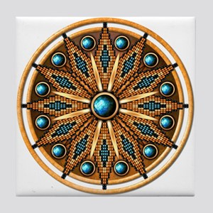 Native American Rosette 15 Tile Coaster
