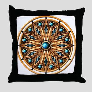 Native American Rosette 15 Throw Pillow