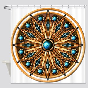 Native American Rosette 15 Shower Curtain