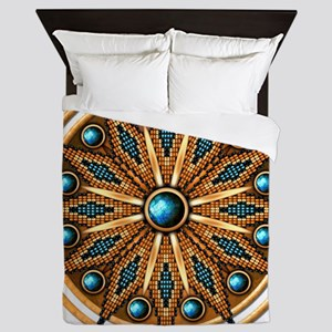 Native American Rosette 15 Queen Duvet