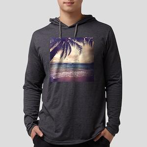 Tropical Beach Mens Hooded Shirt