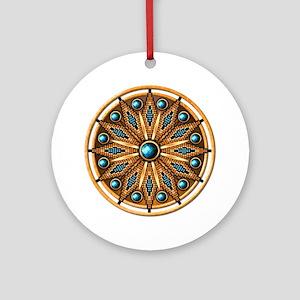 Native American Rosette 15 Ornament (Round)
