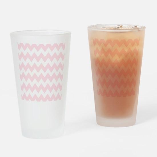 Soft pastel zig zags Drinking Glass