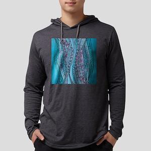Abstract Waves Mens Hooded Shirt