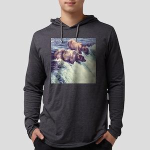 Bears Fishing Mens Hooded Shirt