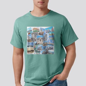 Italy Collage Mens Comfort Colors Shirt