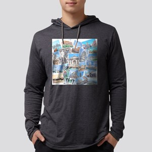 Italy Collage Mens Hooded Shirt