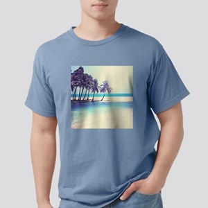 Tropical Beach Mens Comfort Colors Shirt