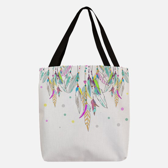 Dreamcatcher Feathers Polyester Tote Bag