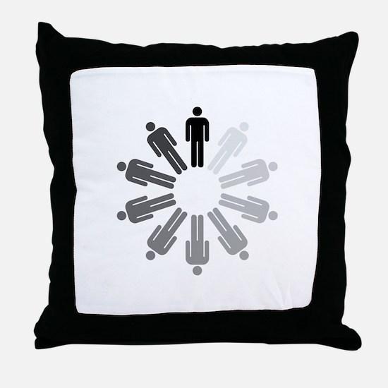 Perfect man Throw Pillow