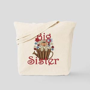Big Sister Fluffy Pup 4 Tote Bag
