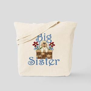 Big Sister Fluffy Pup 3 Tote Bag