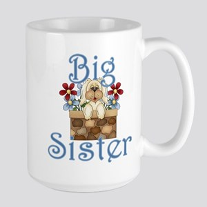 Big Sister Fluffy Pup 3 Large Mug