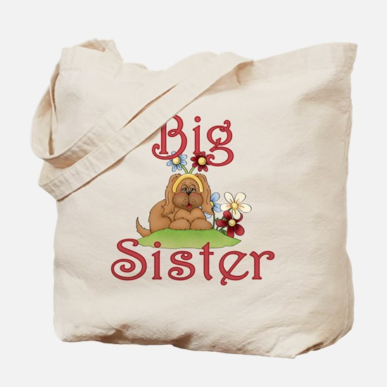 Big Sister Fluffy Pup 1 Tote Bag
