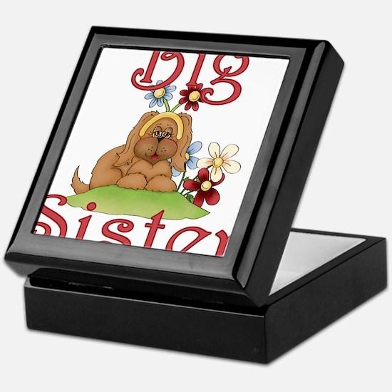 Big Sister Fluffy Pup 1 Keepsake Box