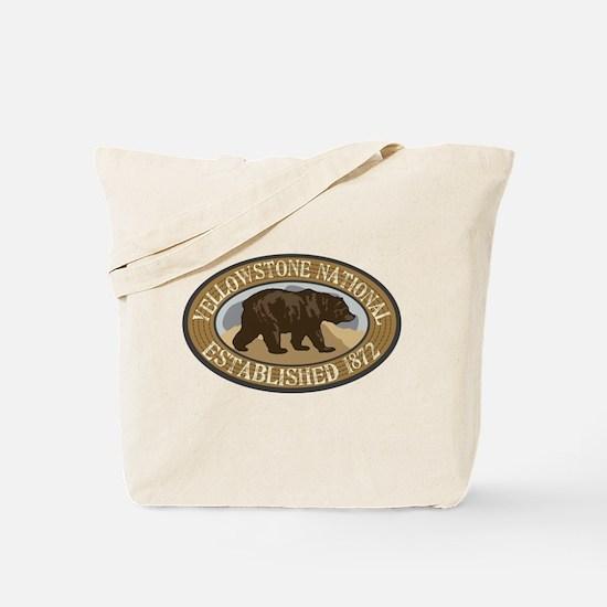 Yellowstone Brown Bear Badge Tote Bag