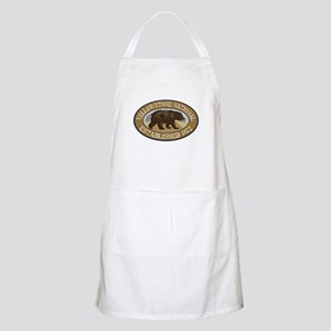 Yellowstone Brown Bear Badge Apron