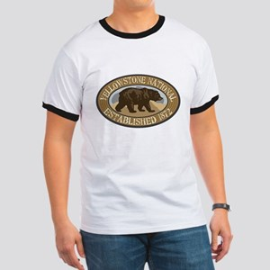 Yellowstone Brown Bear Badge Ringer T