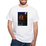 Hermit White Tarot T-Shirt