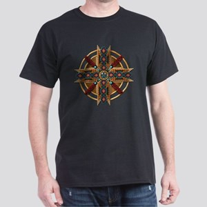 Native American Mandala 01 Dark T-Shirt
