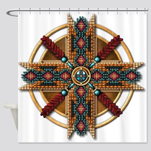 Native American Mandala 01 Shower Curtain