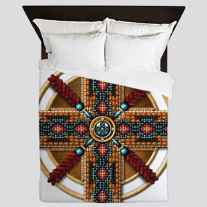 Native American Mandala 01 Queen Duvet