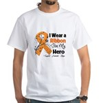 Multiple Sclerosis I Wear Ribbon White T-Shirt