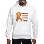 Multiple Sclerosis I Wear Ribbon Hooded Sweatshirt