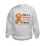 Multiple Sclerosis I Wear Ribbon Kids Sweatshirt