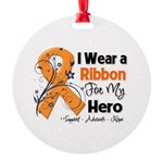 Multiple Sclerosis I Wear Ribbon Round Ornament