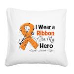 Multiple Sclerosis I Wear Ribbon Square Canvas Pil
