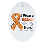 Multiple Sclerosis I Wear Ribbon Ornament (Oval)