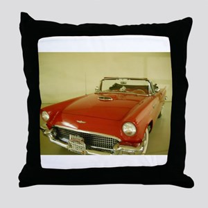 Red 1957 Ford Thunderbird Throw Pillow