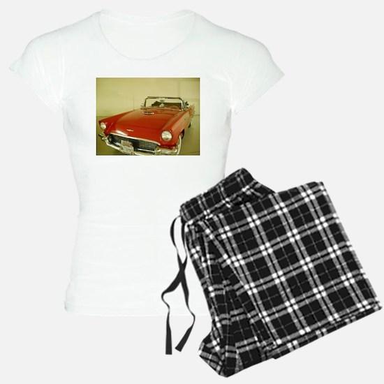 Red 1957 Ford Thunderbird Pajamas