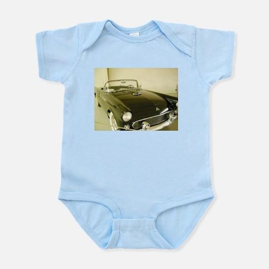 Black 1955 Ford Thunderbird Infant Bodysuit