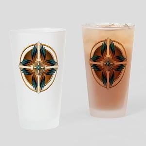 Native American Mandala 02 Drinking Glass