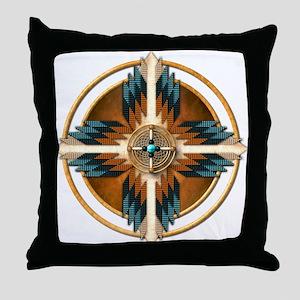 Native American Mandala 02 Throw Pillow