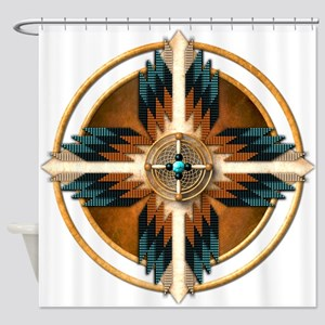 Native American Mandala 02 Shower Curtain