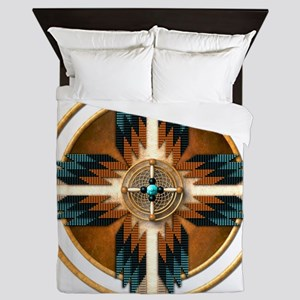Native American Mandala 02 Queen Duvet