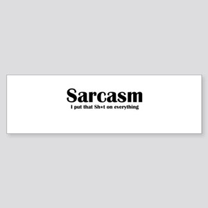 Sarcasm Sticker (Bumper)