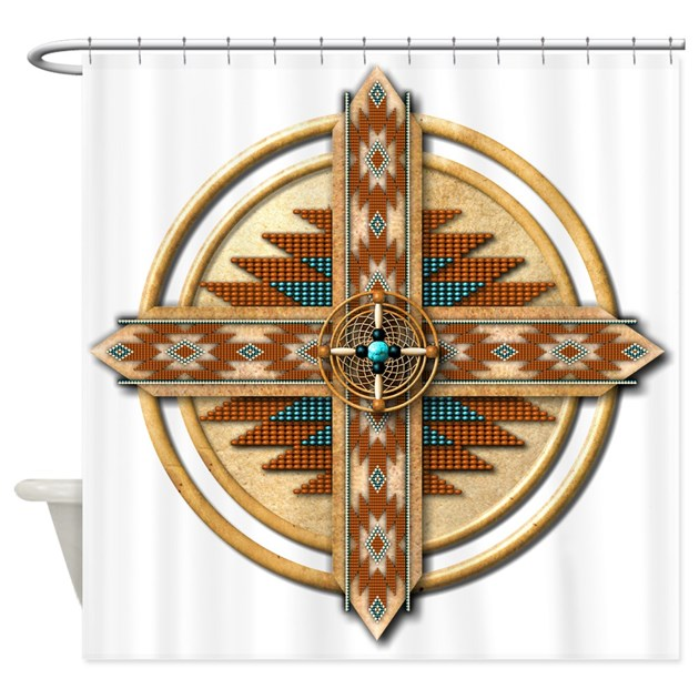 Native American Mandala 03 Shower Curtain By Naumaddicarts
